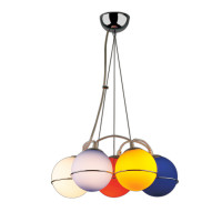 Люстра ODEON LIGHT 1345/5 IXORA хром/цветной